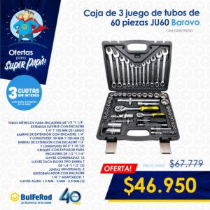 Caja de 3 juego de tubos de 60 piezas JU60