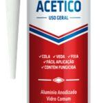 Silicona acetica uso gral negra 280gr Poliplas 1