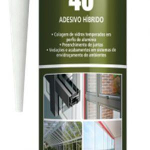 Sellador hibrido MS 40HT blanco 400gr Poliplas