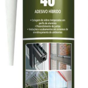 Sellador hibrido MS 40HT negro 400gr Poliplas