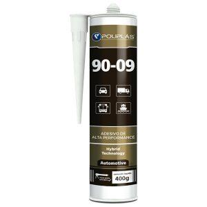 Adhesivo hibrido parabris 9009 negro 400gr Polipla
