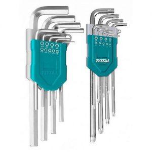Set  Allen Hex y torx 18unid Industrial THT106KT01