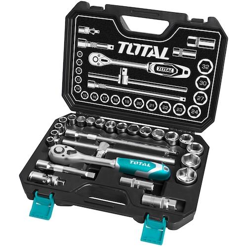 Juego herramientas 25 piezas THT121251 Total