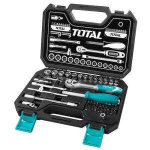 Caja de herramientas enc 1/4 45pzs THT141451 Total