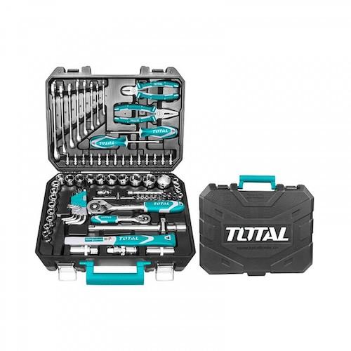 Caja herramientas 77 piezas THKTHP20776 Total