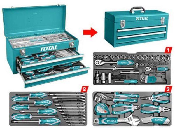 Caja herramientas 97piezas THPTCS70971 Total
