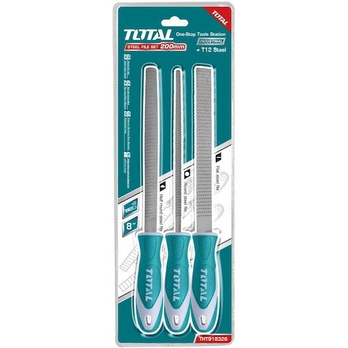 Set de 3 escofinas industrial THT918326 Total