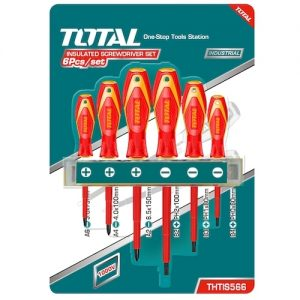 Set destornilladores aislados x 6 THTIS566 Total