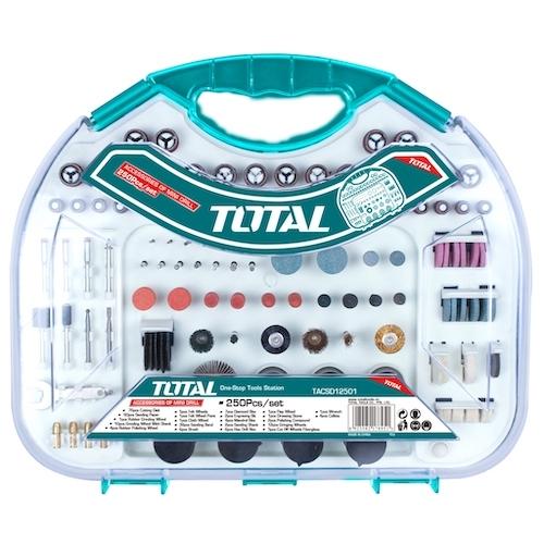 Juego accesorios minitorno 250pz TACSD12501 Total