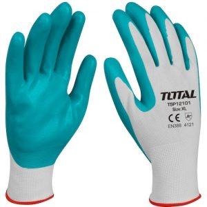 Guantes de trabajo nitrilo x par TSP12101 Total