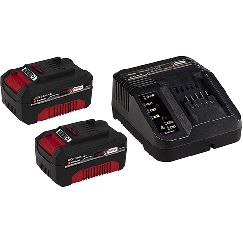 Starter Kit-Cargador y batería 2 x 3,0 Ah EINHELL
